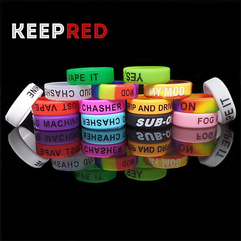 100Pcs/Lot silicone rubber band Non Slip protection wide vape band electronic cigarette mechanical mod RDA RBA vaporizer