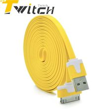 Twitch Micro usb cable For iPhone Cable USB Charger line 1M  2M Noodle Usb Charger wire Sync Data Cable For Iphone 4 4s