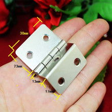 White/Silver Color Cabinet Door Luggage Hinge,Double Hinge Decor,Furniture Decoration,Antique Vintage Old Style,30mm,12pcs