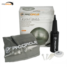 Procircle 65cm PVC Yoga Balls Anti Bust Stability Exercise Balance Ball with Hand Pump for Home/Gym/Core Strength/Pilates(China)
