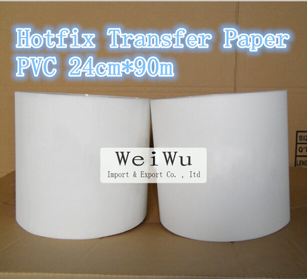 High Quality PVC Hotfix Transfer Paper Motif Paper 24cm*90m Use For Rhinestones Hot Fixed Picture(China (Mainland))
