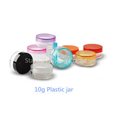 Free Shipping 500pcs 10g Clear Plastic Cosmetic Jar, Used As Promotion Cream Glitters Sample Packaging Wholesale