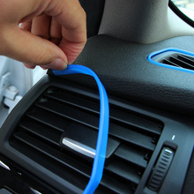 5m Car Interior Mouldings Trim Decorative Strip Line For Ford Focus 2 3 4 Mondeo Fusion Kuga Ecosport Fiesta Falcon EDGE EVOS(China)