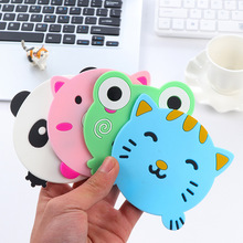 Creative Cartoon Kawaii Animals Panda Frog Pig Kitty heat Insulation Non-slip Green Pink Pad Cup Holder Mat kitchen Accessory JV