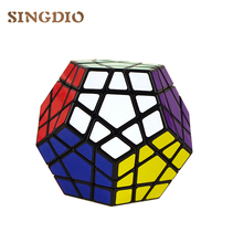 New Megaminx Magic Cubes Pentagon 12 Sides Gigaminx PVC Sticker Dodecahedron Toy Puzzle Cube Toys Twist Speed Rubik's cube(China)