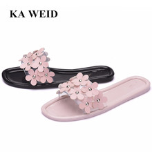 2018 Slippers Summer Beach Flats Casual Shoes Woman Bling Slides Slip On  Women Shoes(China a4d744492706