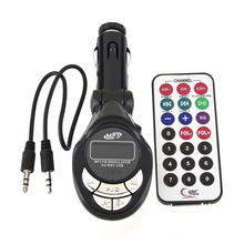 4 in1 LCD auto Car kit MP3 Player Wireless FM Transmitter Modulator with USB CD MMC Remote