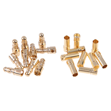 High Quality 10 Pairs 3.5mm Copper Bullet Banana Plug  Male + Female Connector FL