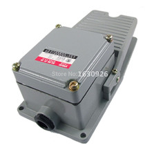 FREE SHIPPING AC 250V 10A 1NO 1NC Momentary Industrial Power Foot Pedal Switch for Motor(China)
