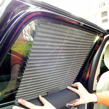 Buy New Universal Car Sunscreen Car Curtain Window Auto Car Curtain Side Window Car Sun Shade Window Curtain Black Beige Grey for $4.99 in AliExpress store