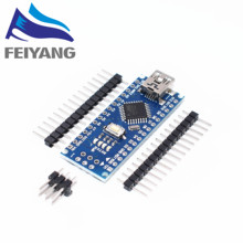 Free shipping  5PCS Nano 3.0 controller compatible for arduino nano CH340 USB driver NO CABLE nano v3.0