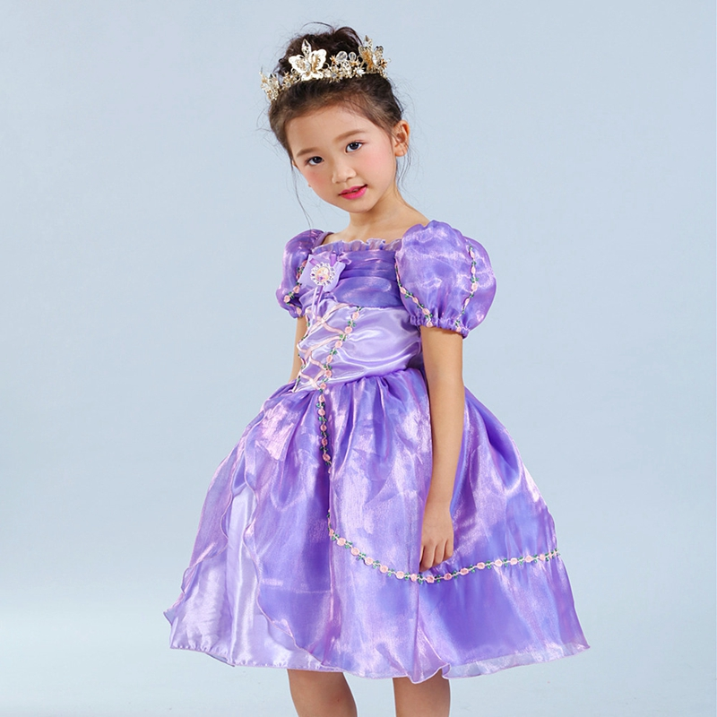 novatx brand baby girl clothes children dresses for girls short sleeve purple dress new arrival <br><br>Aliexpress