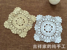 2015 new ZAKKA 6 pic/lot fashion cotton crochet lace doilies for home decor with flowers table mat coaster for wedding gift pads