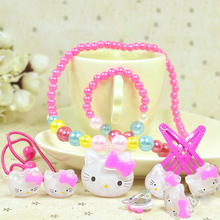 Fashion Hello Kitty Hair Accessories Christmas Gift Artificial Pearl Girls BB Hair Clip Girl Headband Hairpins Hairband Jewelry