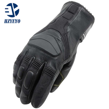 HZYEYO Leather Winter outdoor sport Skiing Gloves windstopper waterproof warm Man ski gloves , H-1001 ,free shipping(China)