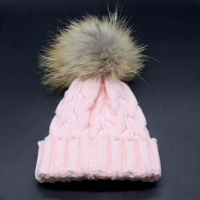 Shockiing Show Toddler Baby Winter Crochet Hat Fur Wool Knit Beanie Warm CapÎäåæäà è àêñåññóàðû<br><br><br>Aliexpress