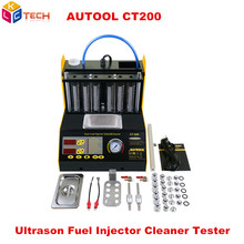 AUTOOL CT200 gasoline Car Motorcycle 220V/110V Auto Ultrasonic Fuel injector cleaning tester machine CT 200 better than CNC-602A