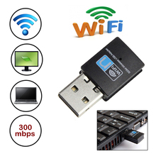 High Speed 300Mbps Mini LED USB 2.0 Wifi RTL8192 Wireless Dongle Adapter Card Network 802.11n/g/b wifi wi-fi LAN Dongle Adapter