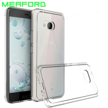 For HTC Ocean U11 Case Back Cover Clear Silicone Case Soft TPU PC Armor Hybrid Back Cover For HTC U11 U 11 Transparent Coque(China)