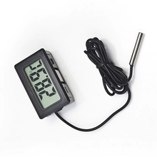 1pc LCD Display Car Refrigerator Aquarium Fish Tank Embedded Electronic Digital Thermometer