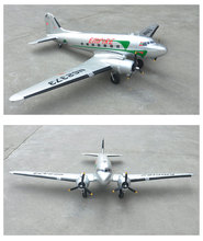 Buy HSD Silver C47 4S 20A ESC RC PNP/ARF Propeller Plane W/ Motor Servo W/O Battery for $235.00 in AliExpress store