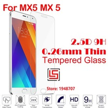 Anti-Scratch Best Cheap Anti-Explosion 2.5D 0.26mm 9H Hard Hardness Phone Cell Front Tempered Glass Verre For Meizu MX5 MX 5