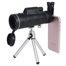 Best Deals 40x60 Monocular Telescope Optical Phone Camera Lens + Tripod Bracket HD High Transmittance for Mobile Phone Shooting