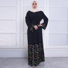 Plus Ukuran 2018 UEA Abaya Kaftan Dubai Bangladesh Turki Wanita Renda  Bordir Hijab Baju Muslim Gamis Turki Pakaian e1d0a00a61