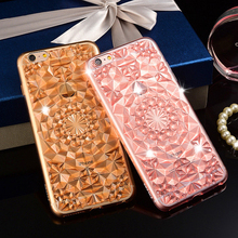 2016 Luxury 3D Glitter Diamond Crystal Jewelry Clear Soft TPU Fundas Cover Case for iPhone 5 5S 5 6s Plus Phone Cases