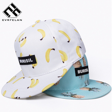 2018 New Fruit pattern Snapback Adult & Kids Fashion Caps Children Baseball Hats For Boys Girls Sun Hip Hop Snapback Caps(China)
