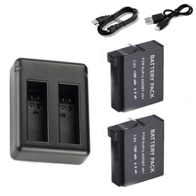 Top Deals USB Charger + 2 x 1600mAh Full Decoded AHDBT-401 Battery For Gopro Hero 4 Go Pro Hero 4