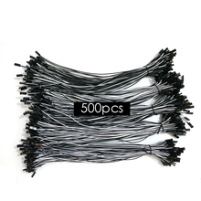 500pcs 26AWG 300mm 2Pin 2P Dupont Housing Wire white and black RC servos extension Lead wire extention cable Free shipping