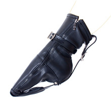 Buy Feet Restraint Kinky Sex Restraint Toy Soft PU Leather Foot Bondage Booties Female Fetish Kit Couples Adult Sex Game Product