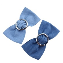 European style US cowboy hair band Women Small pure fresh lady' hairpin The issuing restoring ancient ways Denim act rol(China)