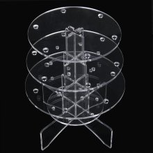 3-Tier 18 Holes Acrylic Lollipop Display Holder Stand 4/6mm---Clear