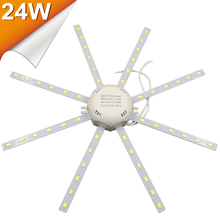 LED Light board AC 220V Lighting Board LED Celling Lamp SMD5730 24W High Bright White Octopus Round Kitchen Bedroom LED Light(China)