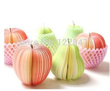 7 pack/Lot Memo pad Apple pear fruit design notes notepad kawaii korean Novelty stationery office supplies School