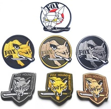 3pcs Embroidery Fox Hound Patch 3D Cloth Tactical Patch Loop And Hook Military Morale Armband Army Combat Badge(China)