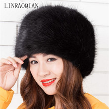Fashion warm fox wool winter hats for women bonnet fur cap fox fur brand new high quality luxury female beanie hat gorros