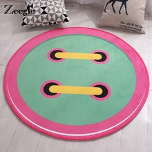 Zeegle Cartoon Round Carpet For Living Room Children Bedroom Rugs Anti-Slip Wear-Resisting Baby Crawling Mats Chair Floor Mats(China)