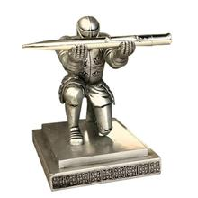 Retro Multifunction Resin Metal DIY Pen Holder Knight Pens stand Holders for Desk New Office Accessories Supplies Stationery L45