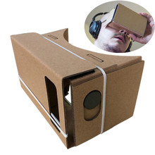 Best Selling! Top Quality 6 inch DIY Google Cardboard + Resin Lens 3D VR Virtual Reality Glasses Hardboard Amazing Vision Jan12