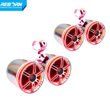 Reborn wakeboard tower speaker with red LED light ring (4 speakers)