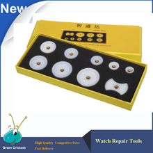 Bergeon 5500 case press Dies Kit,9pcs/set Delrin Reversible Watch Press Dies For Closing Watch With Snap-On Back Case