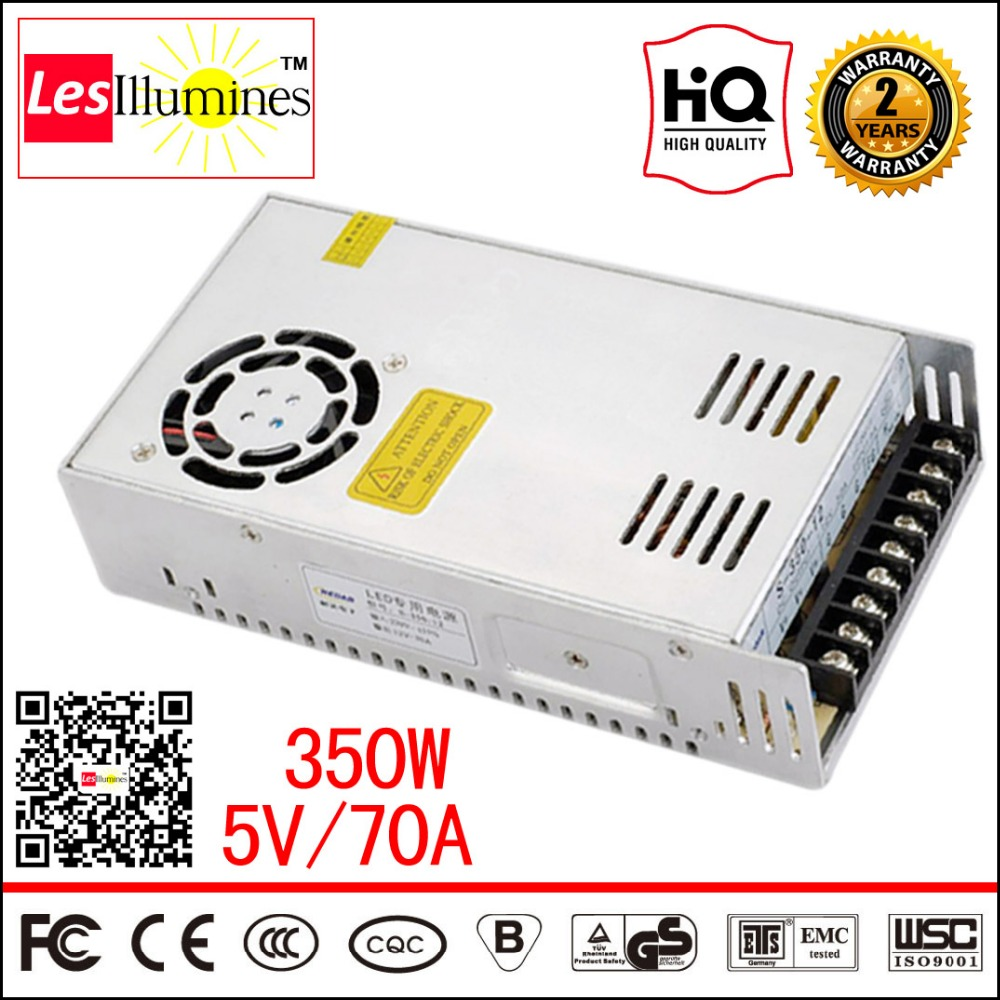 S-350-5 220V 5V LED Driver for LED 5V Lights CE ROHS Approval 5 Volt Power Industrial AC DC Switching Power Supply 5V 70A 350W<br>
