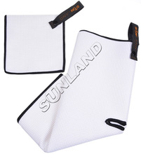 Sunland Microfiber Deep Waffle Weave Golf Towels with Free Golf Balls Towel(China)