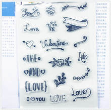 PANFELOU 11.3*15.56cm Small text weeds Transparent Silicone Rubber Clear Stamps cartoon for Scrapbooking/DIY  wedding album