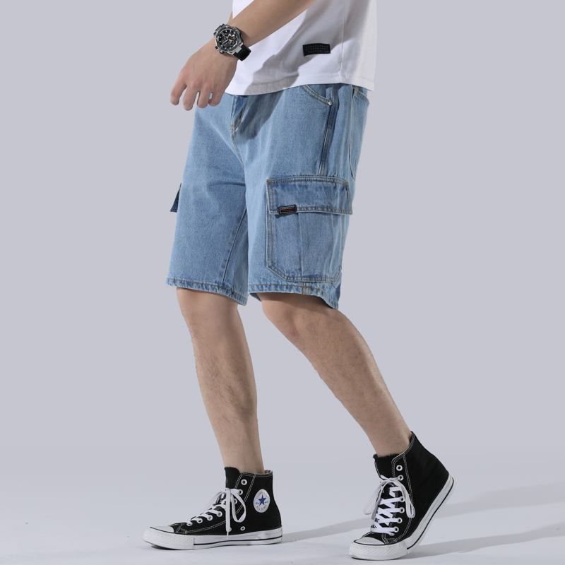 European and American Fashion Denim Shorts Trend Youthful Five Points Jeans High Quality Handsome Casual Shorts