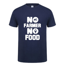 Omnitee New Summer Style No Farmer No Food T Shirts Men Short Sleeve Cotton Funny Farm T-shirts Camisetas Mens Clothing OT-730