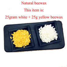 Candle Lipstick Material Natural Beeswax handmade lipstick beewax white yellow bee wax(China)